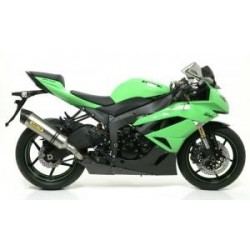 LINEA COMPLETA KAWASAKI ZX10R 08 09 10 ARROW RACE TECH TITANIO/CARBONO