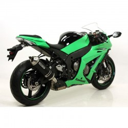 LINEA COMPLETA KAWASAKI ZX10R 2011 2012 ARROW RACE TECH aluminio/ dark