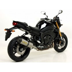 TUBO DE ESCAPE YAMAHA FZ8 800 10 11 12 ARROW WORKS TITANIO COPA CARBONO