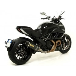 TUBO DE ESCAPE DUCATI DIAVEL 11 12 ARROW RACE TECH CARBONO