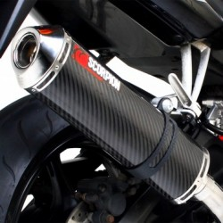 ESCAPE YAMAHA R6 03 04 05 SCORPION FACTORY CARBONO COPA INOX.
