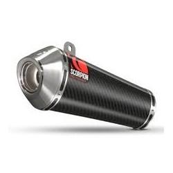 ESCAPE HONDA CBR 1000 RR 08 09 10 11 SCORPION POWER CONE CARBONO COPA INOX.