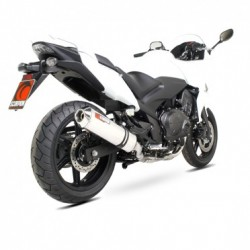 ESCAPE HONDA CBF 1000 10 11 12 13 SCORPION FACTORY OVAL TITANIO COPA INOX.