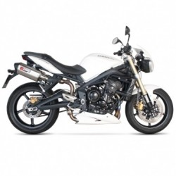 ESCAPES TRIUMPH STREET TRIPLE 675 07 08 09 10 11 12 SCORPION SERKET PARALELO INOX.