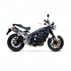 ESCAPE TRIUMPH SPEED TRIPLE 1050 05 06 07 08 09 10 SCORPION FACTORY OVAL CARBONO COPA INOX.