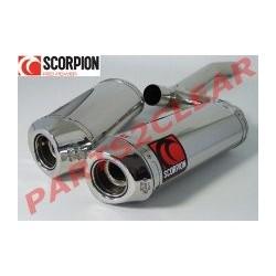 ESCAPES DUCATI 1098 S 08 09 10 11 12 13 SCORPION FACTORY OVAL INOX/COPA INOX.