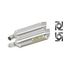 ESCAPES APRILIA SHIVER 750 08 09 10 11 12 13 ARROW ALUMINIO/INOX