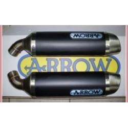 ESCAPES APRILIA SHIVER 750 08 09 10 11 12 13 ARROW ALUMINIO DARK/INOX