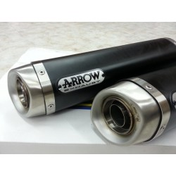 TUBOS DE ESCAPE DUCATI 848 1098 1198 S R ARROW DARK ALUMINIO