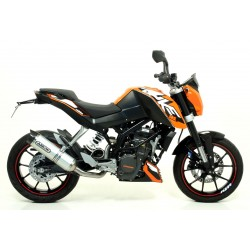 ESCAPE LINEA COMPLETA KTM DUKE 200 12 13 14 ARROW THUNDER ALUMINIO/COPA CARBONO
