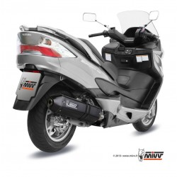 ESCAPE COMPLETO SUZUKI BURGMAN 400 MIVV SPEED EDGE STEEL BLACK