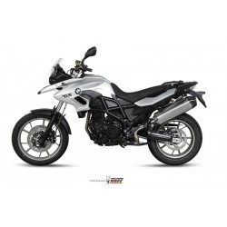 ESCAPE BMW F 700 GS 12 13 14 MIVV SPEED EDGE INOX