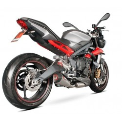 ESCAPE TRIUMPH STREET TRIPLE 675 R 13 14 15 16 SCORPION SERKET CONICO TITANIO