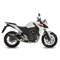 ESCAPE HONDA CB 500 F/X 13 14 15 16 MIVV SUONO STEEL BLACK