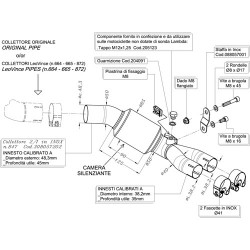 ESCAPE HONDA XL 700 V TRANSALP 08 09 10 11 12 13 LEOVINCE LV ONE EVO II INOX.
