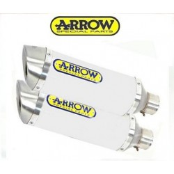 TUBOS ESCAPE ARROW Z 1000 07 08 09 STREET THUNDER ALUMINIO WHITE
