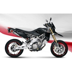 ESCAPES APRILIA DORSODURO 750 08 09 10 11 12 13 14 15 16 AKRAPOVIC SLIP ON TITANIO