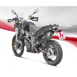 ESCAPE BMW F800 GS 08 09 10 11 12 13 14 15 16 17 18 AKRAPOVIC SLIP ON TITANIO