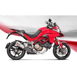 ESCAPE DUCATI MULTISTRADA 1200/ 1200 S  15 16 17 AKRAPOVIC SLIP ON LINE TITANIO