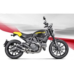 ESCAPE DUCATI SCRAMBLER CAFE RACE/ ICON/ URBAN ENDURO/ CLASSIC/ FULL THROTTLE 14 15 16 17 18 AKRAPOVIC SLIP ON LINE TITANIO
