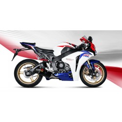 KIT ESCAPE HONDA CBR 1000 RR 08 09 10 LINEA COMPLETA AKRAPOVIC RACING TITANIO