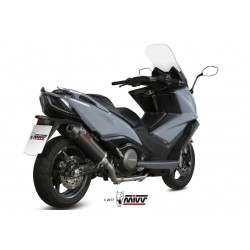 ESCAPE KYMCO AK 550 17 18 MIVV OVAL INOX BLACK