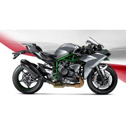 ESCAPE KAWASAKI NINJA H2 15 16 17 18 AKRAPOVIC SLIP ON CARBONO