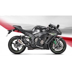 KAWASAKI ZX-10R 16 17 18 ESCAPE AKRAPOVIC SLIP- ON LINE TITANIO