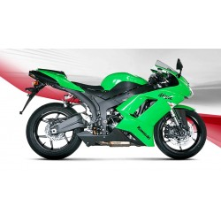 KAWASAKI ZX-6R 600 07 08 ESCAPE AKRAPOVIC SLIP- ON LINE TITANIO