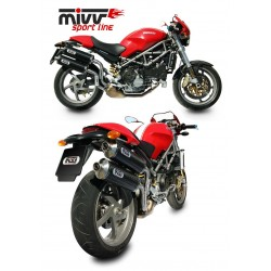 ESCAPES DUCATI MONSTER S2R 800/1000 S4R MIVV OVAL CARBONO