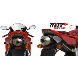 ESCAPE HONDA CBR 1000 RR 04 05 MIVV OVAL CARBONO