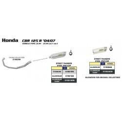 TUBO ESCAPE HONDA CBR 125 R 04 05 06 07 08 09 10 ARROW LINEA COMPLETA TITANIO