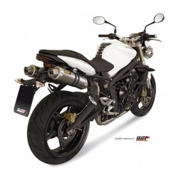 ESCAPES TRIUMPH STREET TRIPLE 675 07 08 09 10 11 MIVV GP TITANIO