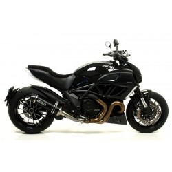 TUBO DE ESCAPE DUCATI DIAVEL 11 12 ARROW ALUMINIO DARK
