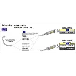 LINEA COMPLETA HONDA CBR 125 R 11 12 ARROW STREET THUNDER TITANIO