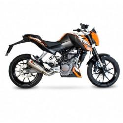 ESCAPE KTM 125 DUKE 11 12 13 14 SCORPION SERKET CONICO INOX