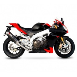 ESCAPE APRILIA RSV 4 09 10 11 12 13 14 SCORPION FACTORY CARBONO/COPA INOX
