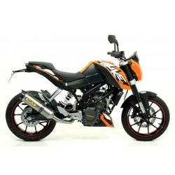 ESCAPE LINEA COMPLETA KTM DUKE 125 11 12 13 14 ARROW THUNDER TITANIO/COPA CARBONO
