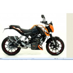ESCAPE LINEA COMPLETA KTM DUKE 200 12 13 14 ARROW THUNDER DARK/COPA CARBONO