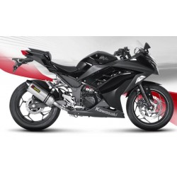ESCAPE KAWASAKI NINJA 300 R 13 14 15 AKRAPOVIC SLIP ON TITANIO