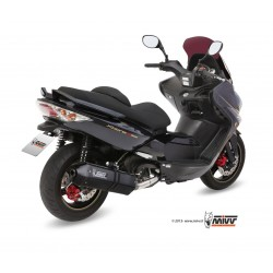 LINEA COMPLETA ESCAPE KYMCO XCITING 500 MIVV SPEED EDGE STEEL BLACK