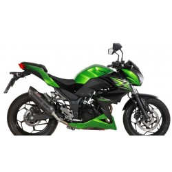 ESCAPE KAWASAKI Z 300 15 16 MIVV SUONO STEEL BLACK COPA CARBONO