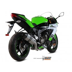 LINEA COMPLETA ESCAPE KAWASAKI ZX6-R / 636 13 14 15 16 MIVV SPEED EDGE INOX